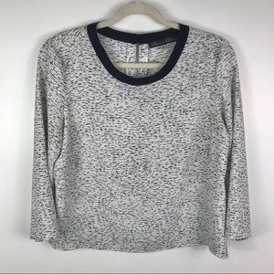Rose & Olive black white patterned crop style top